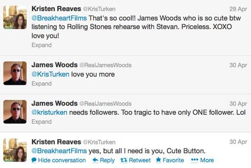 Kristen Burguess James Woods tweets