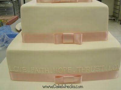 Love Hope Thrust Cake Wreck