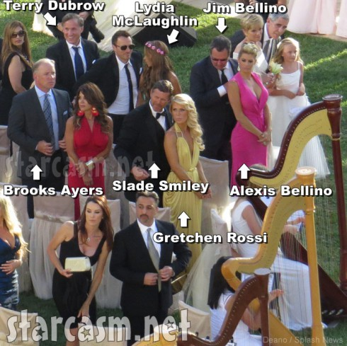 Tamra Barney wedding guests Brooks Ayers, Gretchen Rossi, Alexis Bellino, Slade Smiley, Terry Dubrow and Jim Bellino