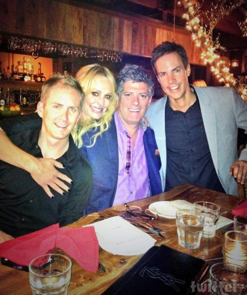 Taylor Armstrong and boyfriend John Bluher birthday dinner Aventine restaurant