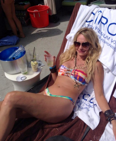 Taylor Armstrong bikini photo from her 42nd birthday
