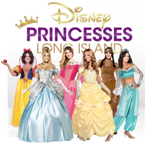 Disney Princesses Long Island Ashlee Snow White, Casey Cohen as Cinderella, Chanel (Coco) Omari as Sleeping Beauty, Amanda Bertoncini as Belle, Erica Gimbel as Pocahontas and Joey Lauren as Jasmine