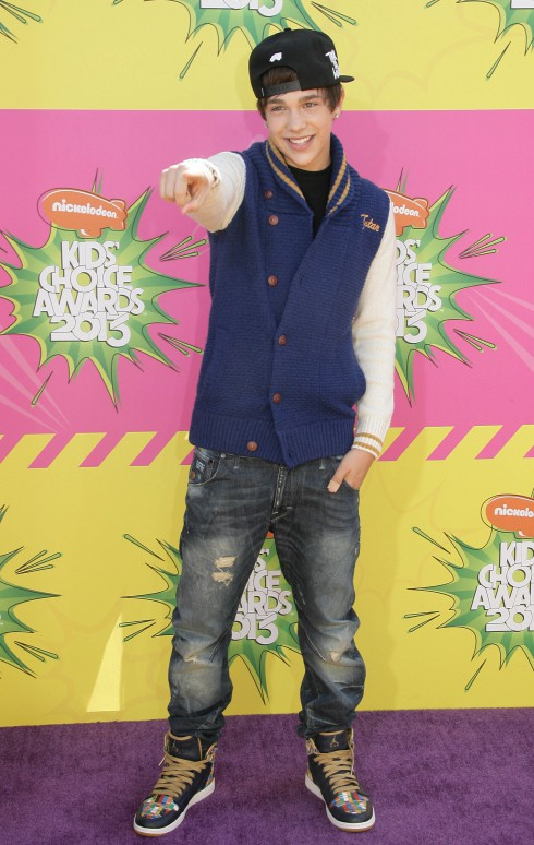 Austin Mahone at Nickelodeon's 26th Annual Kids' Choice Awards at USC Galen Center in Los Angeles, California, United States.