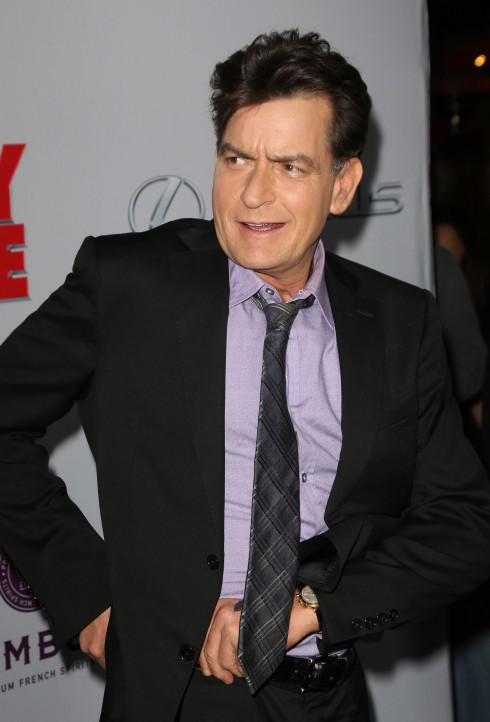 Charlie Sheen at the premiere of 'Scary Movie 5' at ArcLight Cinemas Cinerama Dome in Hollywood.