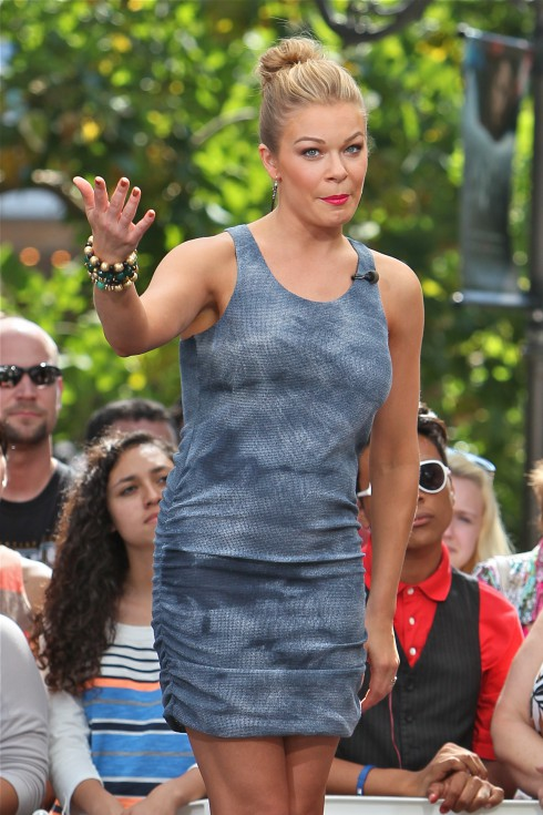 LeAnn Rimes at The Grove for an appearance on entertainment news show 'Extra' in Los Angeles, California, United States.