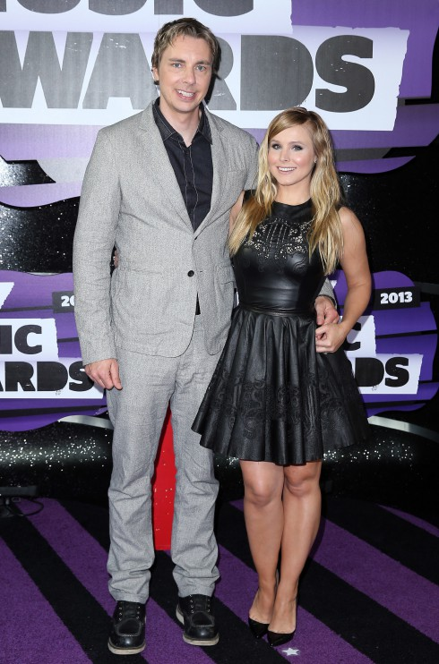 Dax Shepard and Kristen Bell at the 2013 CMT Music awards at the Bridgestone Arena in Nashville, TN, United States.