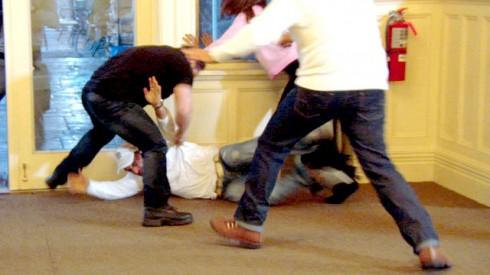 Joe Gorga and Joe Giudice fight on The Real Housewives of New Jersey
