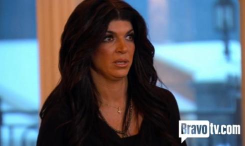 Teresa Giudice before Joe Gorga Joe Giudice fight on The Real Housewives of New Jersey