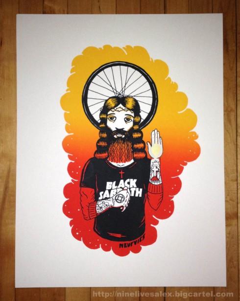 Alexandre De Meyer Rider Jesus screen print poster