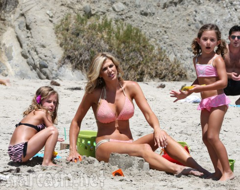 Real Housewivves of Orange County's Alexis Bellino with twin daughters Mackenna and Melania