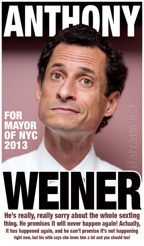 2013 Anthony Weiner campaign poster