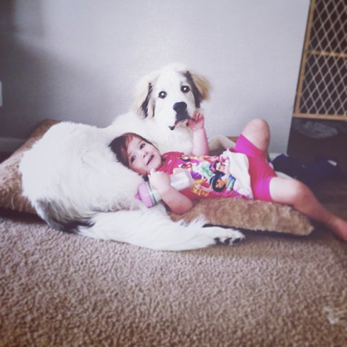 Arri BFF with Dog