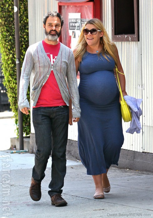 Pregnant Busy Philipps with husband Marc Silverstein together