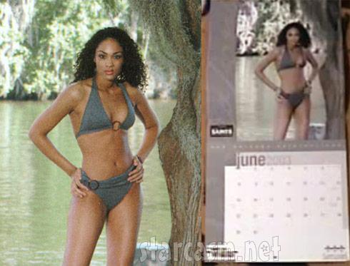 Big Brother 15 Candice Stewart Saintsations calendar 2003 Miss June