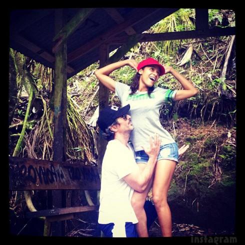 Devious Maids' Dania Ramirez and her husband Bev Land on their honeymoon