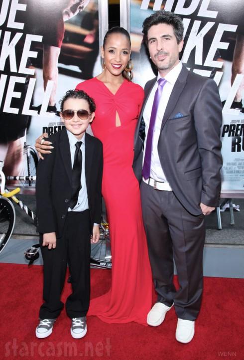 Dania Ramirez with husband John Amos Beverly Land and his son Kai