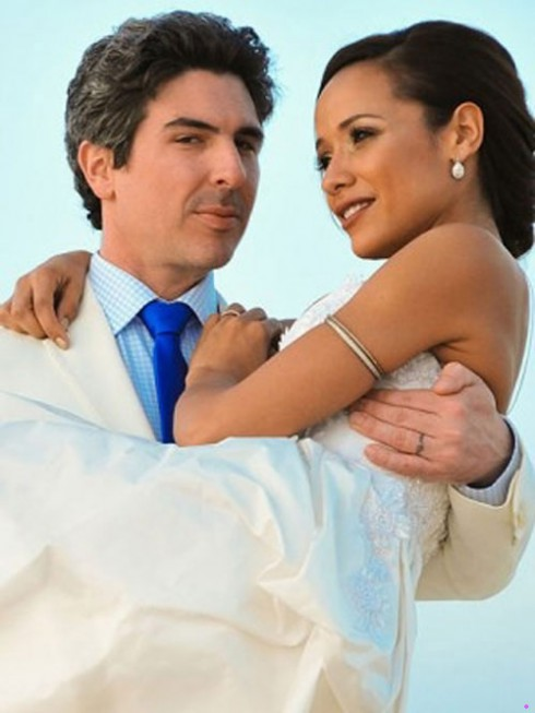 Dania Ramirez wedding photo with husband director John Amos Beverly Land