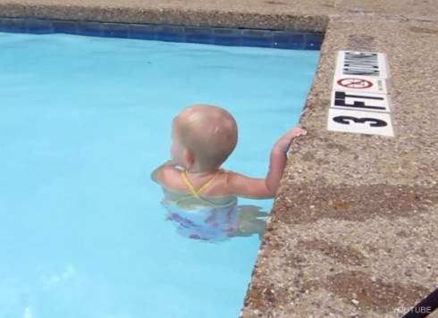 ISR Infant Swimming Resouece baby Elizabeth swimming from viral Youtube video