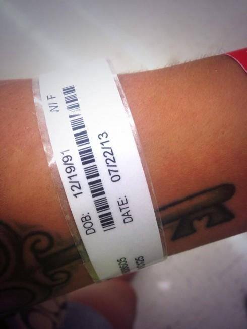 Jenelle Evans hospital bracelet appendectomy surgery