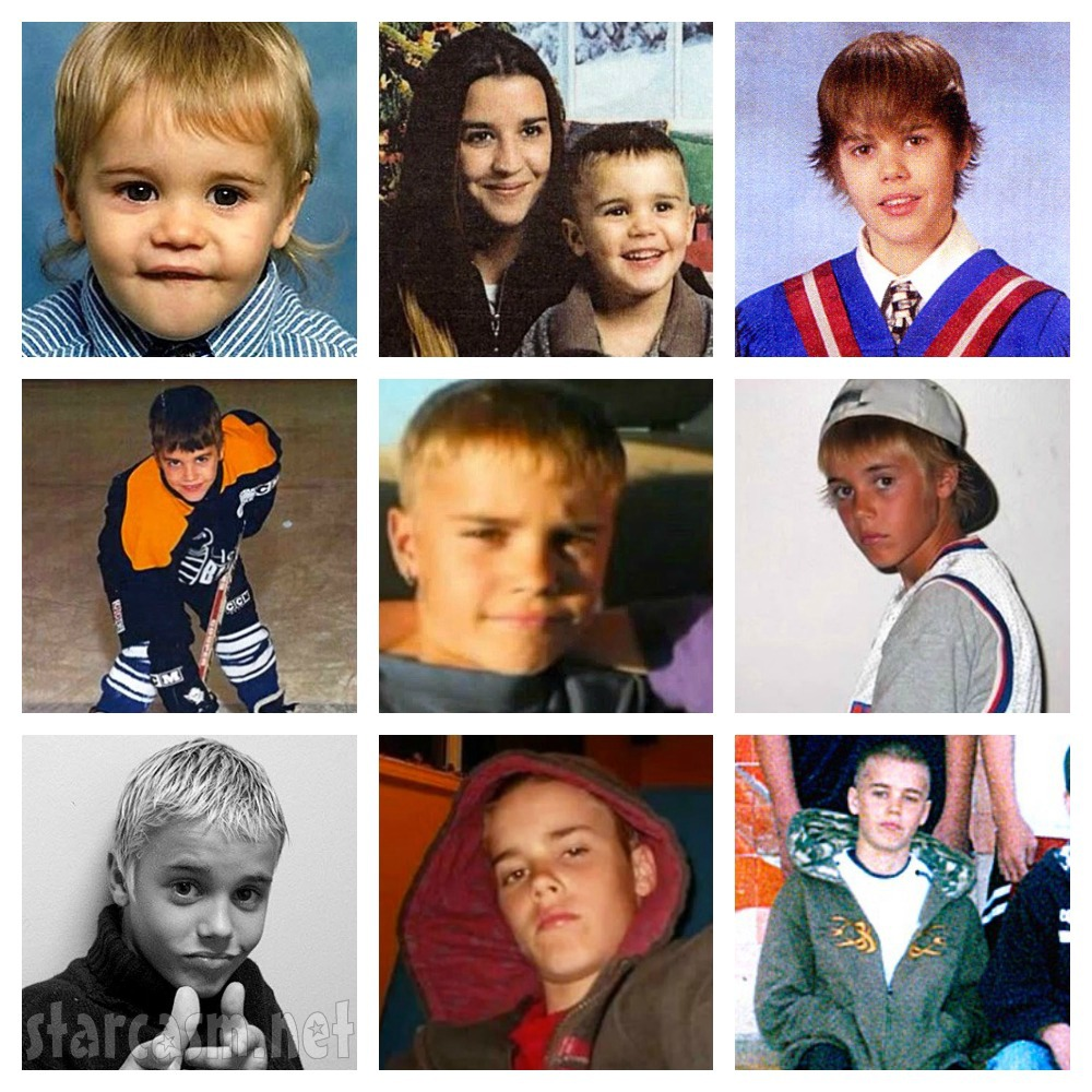 PICTURES Justin Bieber as a kid back home in Canada