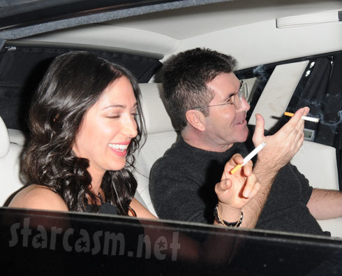 Lauren-Silverman-smoking-with-Simon-Cowell