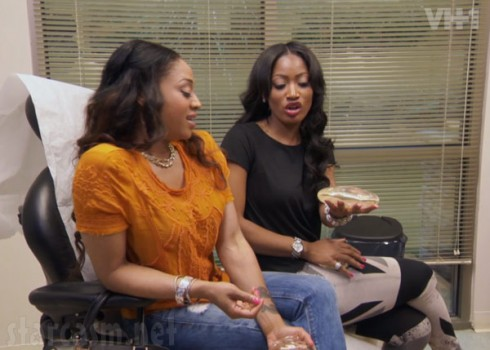 Love and Hip Hop Atlanta Mimi Faust and Erica Dixon look at breast implants