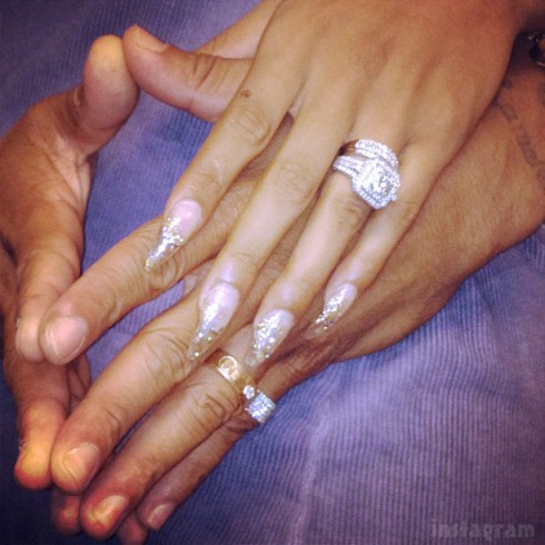 LAHHA Stevie J and joseline Hernandez wedding rings photo