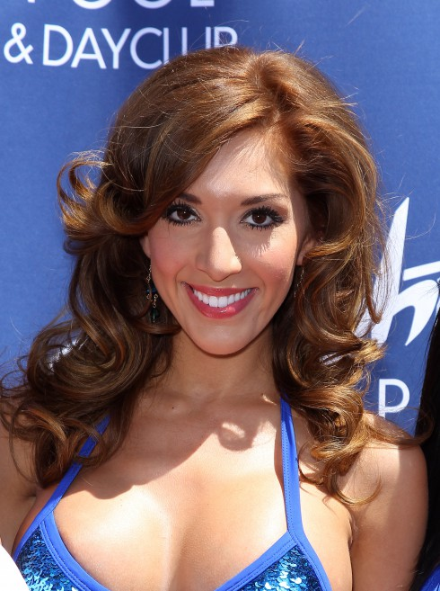 'Teen Mom' reality star Farrah Abraham arrives at Sapphire Pool and Day Club in Las Vegas, NV, United States.