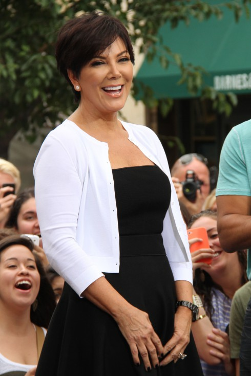 Kris Jenner seen at the Grove for an interview on Extra in Los Angeles, CA, United States.