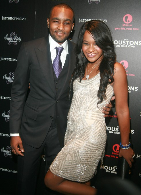 Nick Gordon and Bobbi Kristina Brown at Lifetime's new reality series 'The Houstons: On Our Own' premiere launch party at the Tribeca Grand Hotel in New York City, United States.