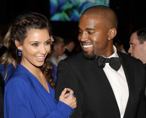 Kim Kardashian and Kanye West at The Angel Ball 2012 at Cipriani Wall Street.