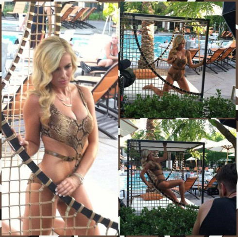 Ally Mello LA Kings Ice Girl bikini The Amazing Race