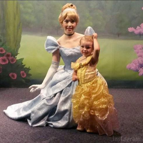 Arabella Sekella and Cinderella from Disney World