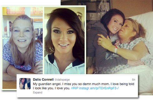 Teen Mom star Dalis Connell with her mother who was hospitalized with  cancer