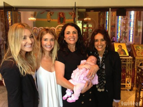 Interior Therapy Jenni Pulos and daughter Alianna 40-day blessing photo