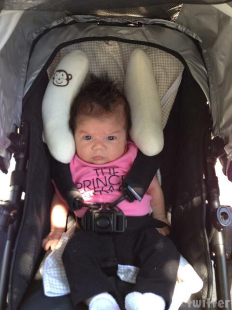 Flipping Out Jenni Pulos' daughter Alianna photo car seat