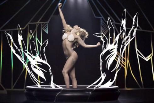 Lady Gaga Applause music video seashell bra