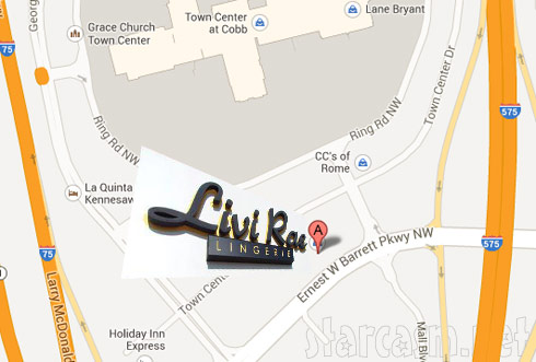Map and directions to LiviRae Lingerie store from Double Divas