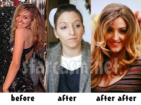 Breaking Amish LA Lizzie Stoltzfus before the show, during the show, and after her makeover
