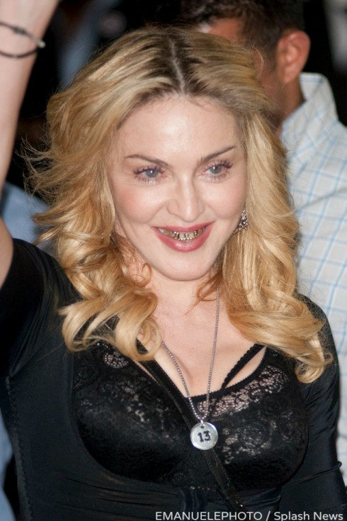 POPSTAR MADONNA VISITS HER HARD CANDY FITNESS CLUB IN ROME