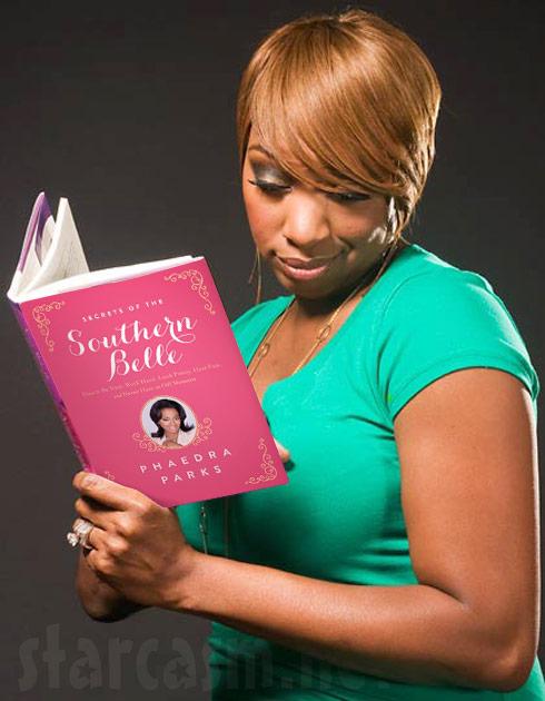 NeNe Leakes reading Phaedra Parks' book Secrets of the Southern Belle