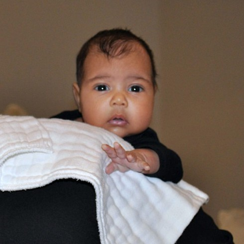 First picture of Kim Kardashian's daughter North West photo