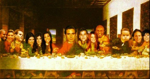 Scott Disick's Kardahian Last Supper instagram photo