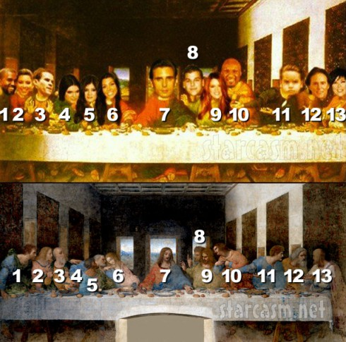 Scott Disick's Last Supper photo with which Kardashian is which disciple