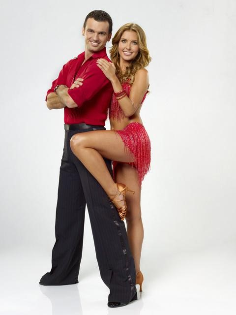 Audrina Patridge and partner Tony Dovolani Dancing With The Stars