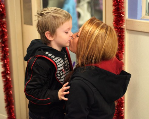 Being Maci promo photo Maci Bookout kissing her son Bentley