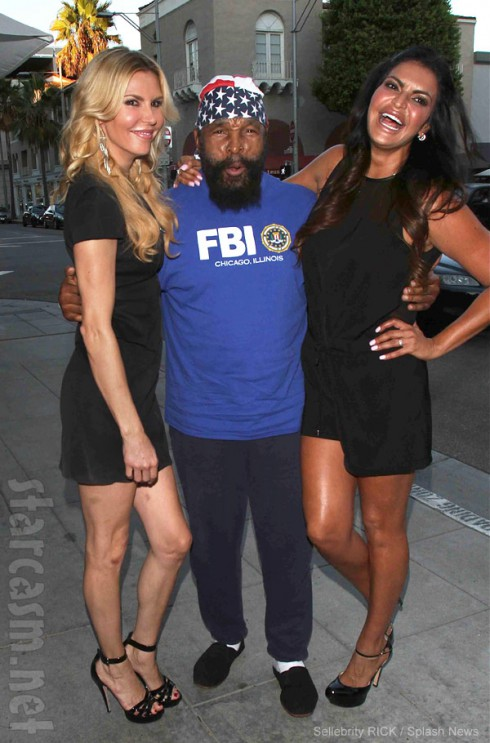 Brandi Glanville with Mr. T and bff Jennifer Gimenez