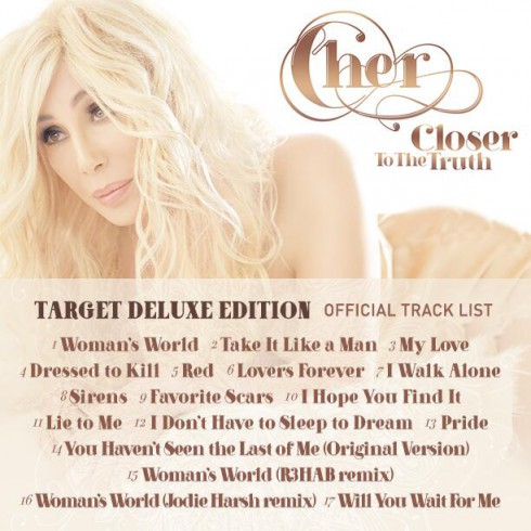 Cher Closer to the Truth Target edition track listing