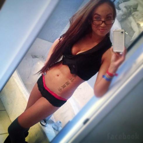 Claire Jiminez Big Tips Texas sexy lingerie selfie