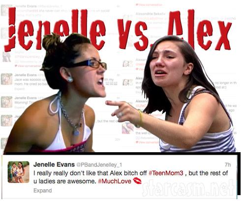 Teen Moms Jenelle Evans and Alex Sekella feud on Twitter